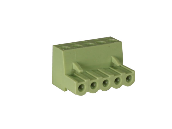 5.00 mm pitch - pluggable right angle female terminal block - 5 contacts