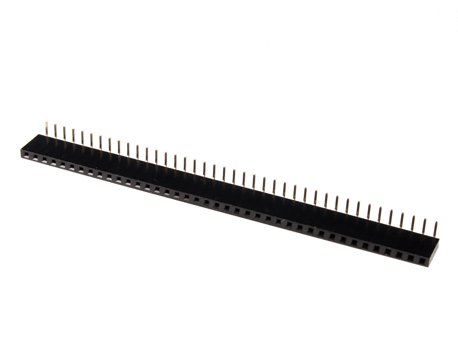 2.54 mm Pitch - Right Angle Female Header Strip - 40 Pins