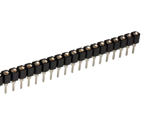2.54 mm Pitch - Turned Pin Straight Female Header Strip - 40 Pins - 10.847/F