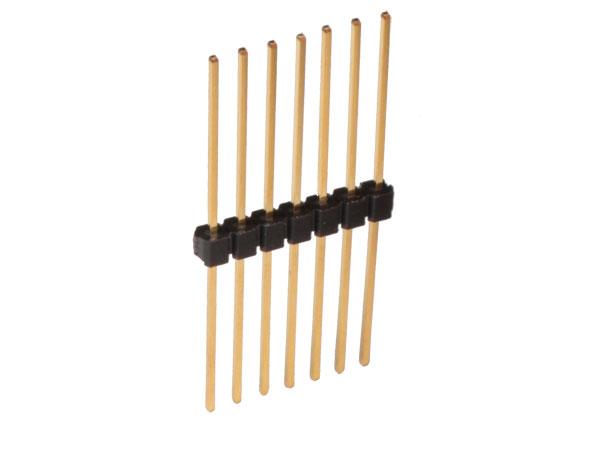 Barrette Mâle Droite - Pas 2,54 mm - 7 Pôles