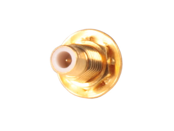 Straight Panel-Mount SMB Female Nut Connector with Solder Contact - 3567