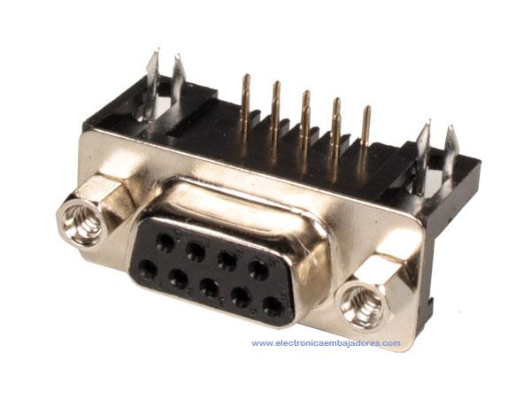 Conector sub-D Hembra - 9 Contactos Circuito Impreso - 08.130/9