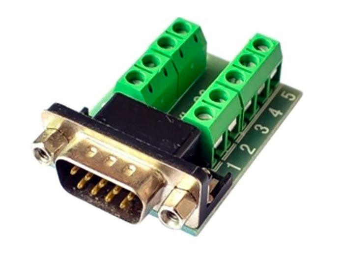 Conector sub-D Macho - 9 Contactos Conexión a Tornillo