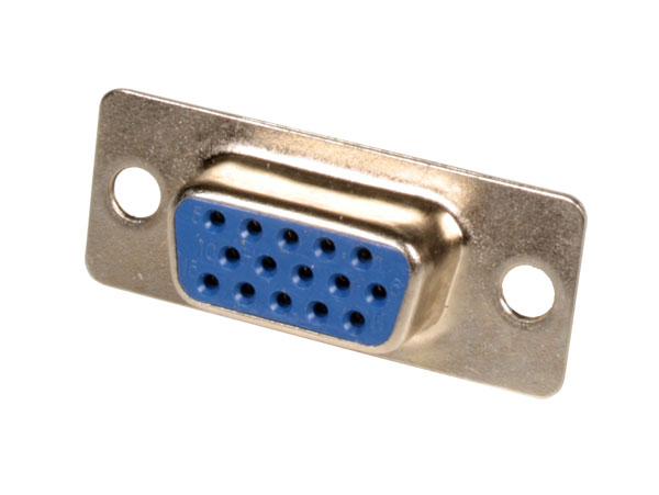 D-sub Female High Density Connector - 15 Poles with Solder Connection - 08.170/15