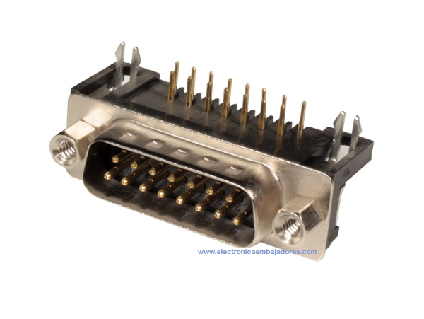 D-sub Male Connector - 15 Poles Printed Circuit - 08.120/15
