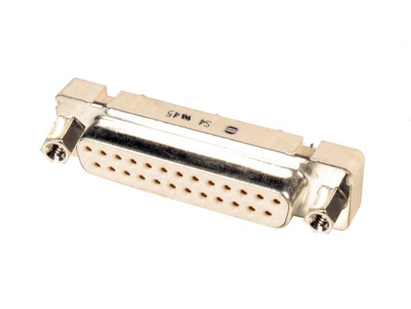 Connecteur sub-D à Carte Femelle Droite - 25 Pôles