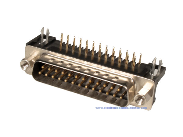 CONECTOR SUB-D MACHO - 25 CONTACTOS CIRCUITO IMPRESO