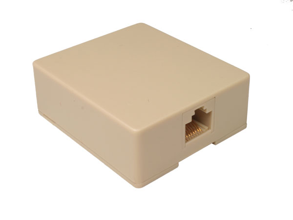 Surface Mount for 1 Modular Connector 8P8C (RJ45)