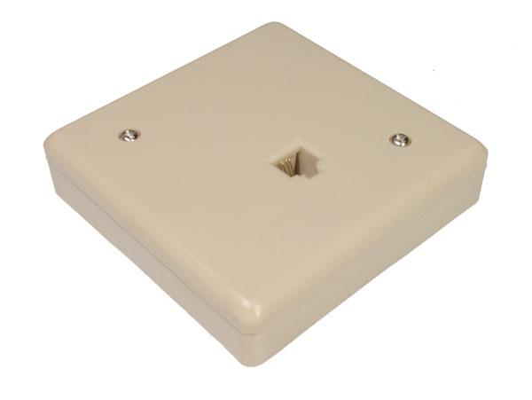 Base de Superficie para 1 Conector Modular 6P4C (RJ12) - TR70-00017