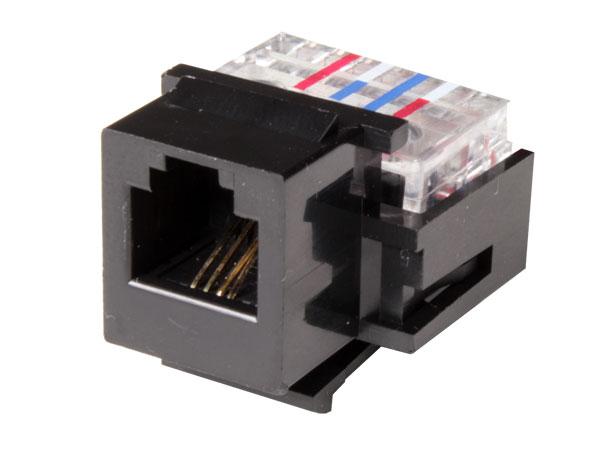 Conector Jack Telefónico 6P4C Encastrar Hembra - RJ11 - 01-4100