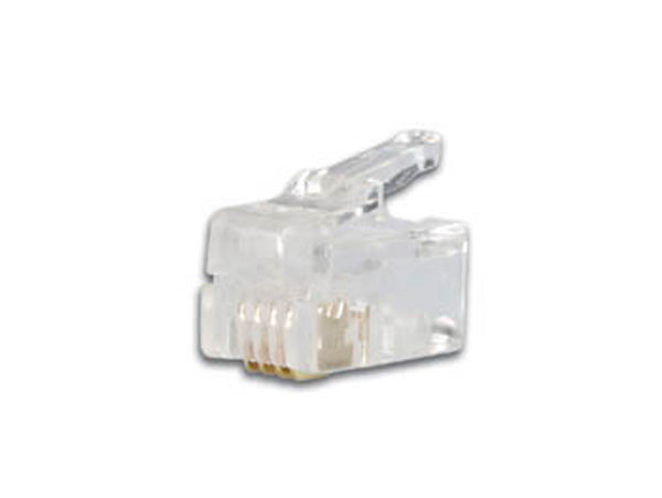 CONECTOR TELEFONICO AEREO MACHO 4P4C - RJ9