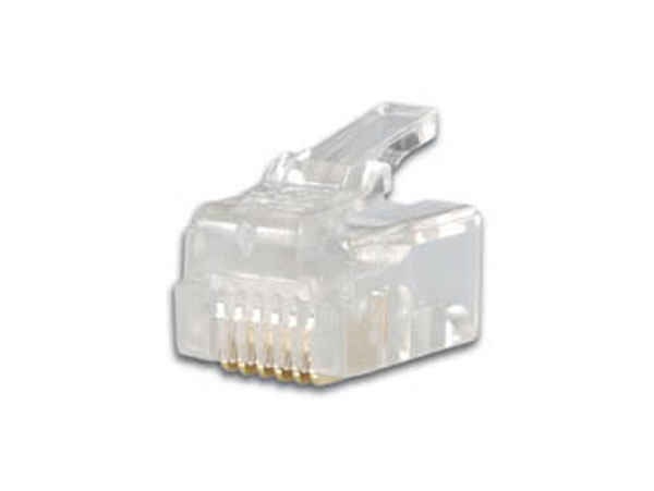 Cable-Mount Male Telephone Connector 6P6C (RJ12)