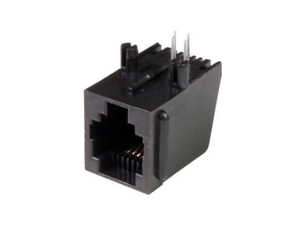Connecteur Modulaire Circuit Imprimé Femelle 6P4C - RJ11 - horizontal - 39.700/6/4