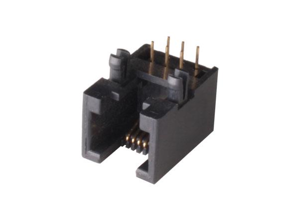 Connecteur Modulaire Circuit Imprimé Femelle 6P6C - RJ12 - horizontal - 39.700/6/6