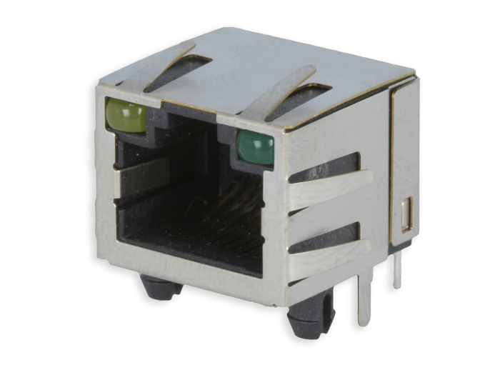 Female Printed Circuit Board Mount 8P8C - RJ49 - Horizontal - 211A-11CAA-R