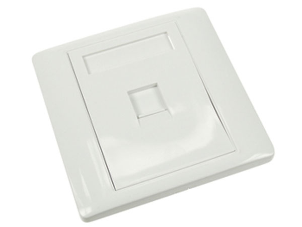 Wall Socket for 1 Modular Connector 110 - White - CWP02