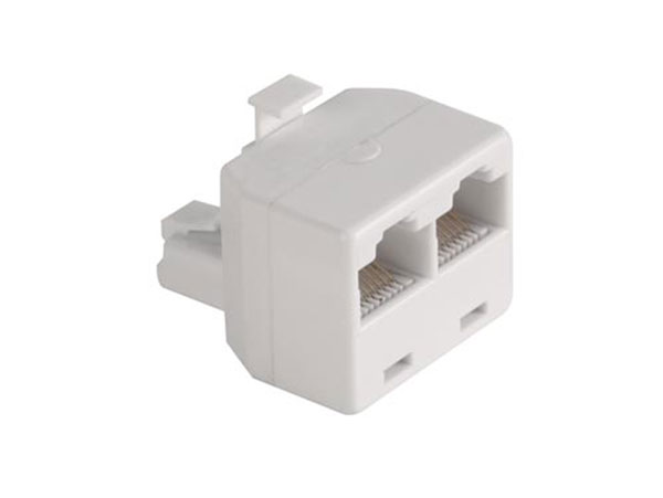 Adaptador Salida Doble 8P8C (RJ45) - 8 Vias - 39.015/8/8