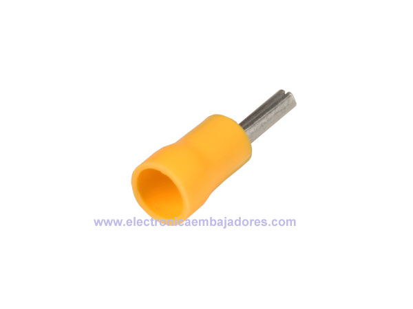 FVWSPC-5.5 - Insulated Pin Cord End Terminal Yellow 6 mm² l=27.5 mm - 25 Units - 46130