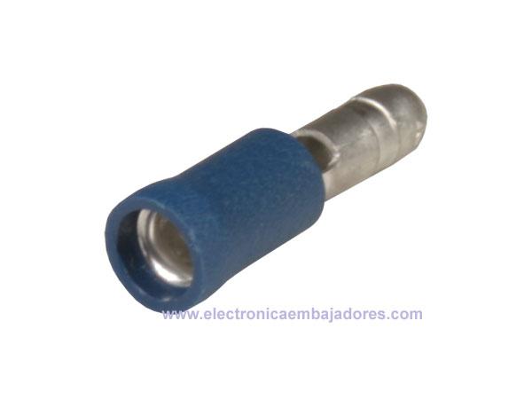 FVDGM2-5 - Cosse Cylindrique Isolé Mâle 2,50 mm² L=4 mm - 25 Unités - Bleu - 25104E