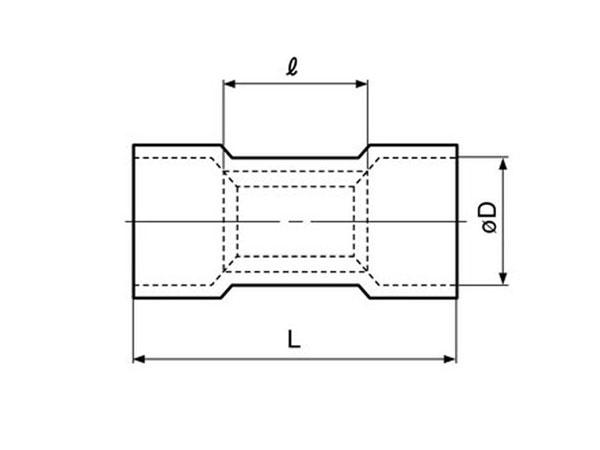 FVWSC-5.5 - Isolé Longues pour Cosses - 6 mm² - 100 Unités - 46152