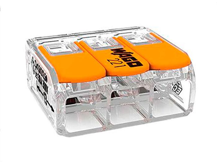 Wago 221-613 - WAGO 221-613 - Ligador - Caixa Emenda - 3 Ligações ate 6.0 mm² - 221-613