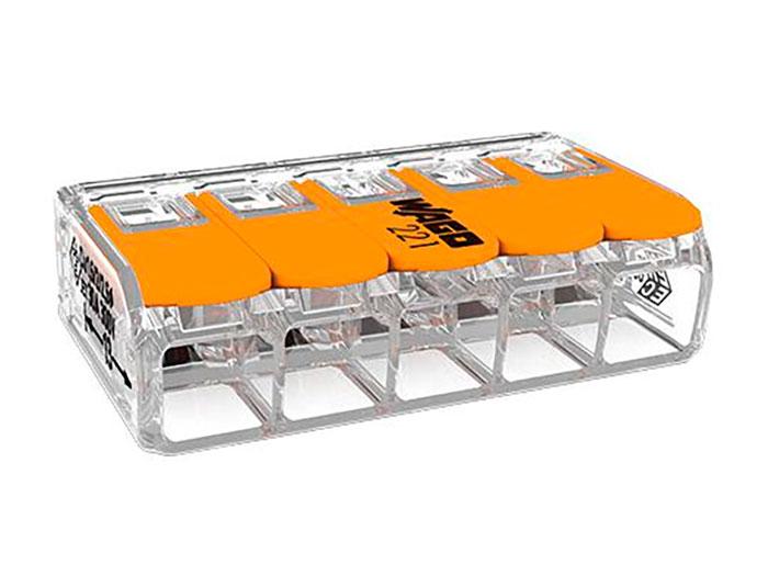 WAGO 221-615 - Ligador - Caixa emenda - 5 Ligações ate 6.0 mm²