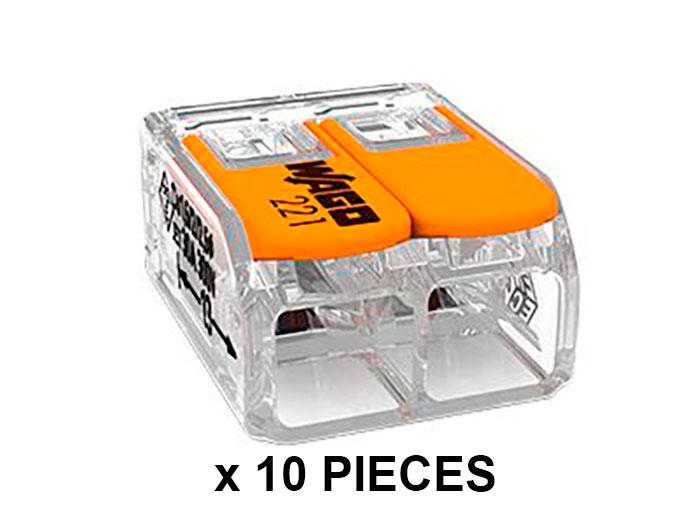 Wago 221-612 - Blister Conector Empalme 2 Contactos Hasta 6.0 mm² - 10 Piezas por Blister - BLISTER 221-612