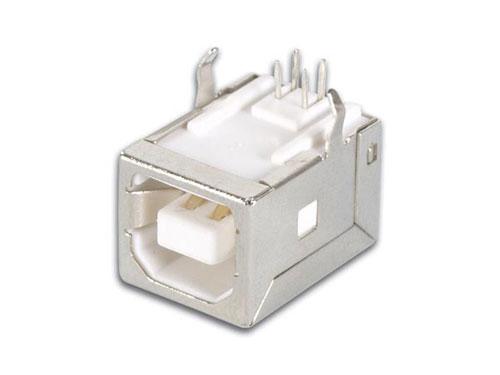 CONECTOR USB-B HEMBRA CIRCUITO IMPRESO - ACODADO