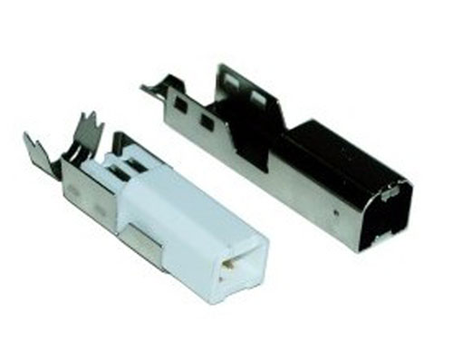 Male USB-B Cable-Mount Connector
