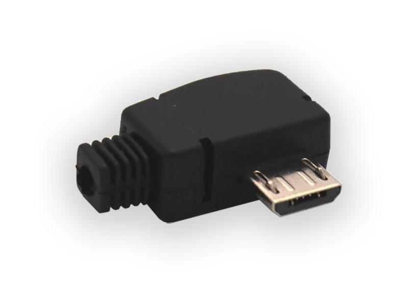 Conector Micro USB-B 5p Macho Acodado