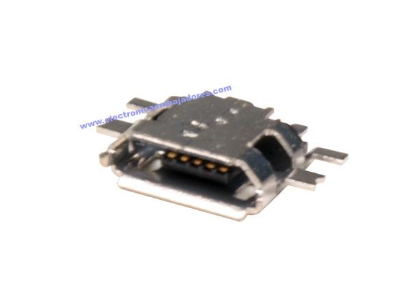 CONECTOR MICRO USB-A 5 PINES HEMBRA CIRCUITO IMPRESO