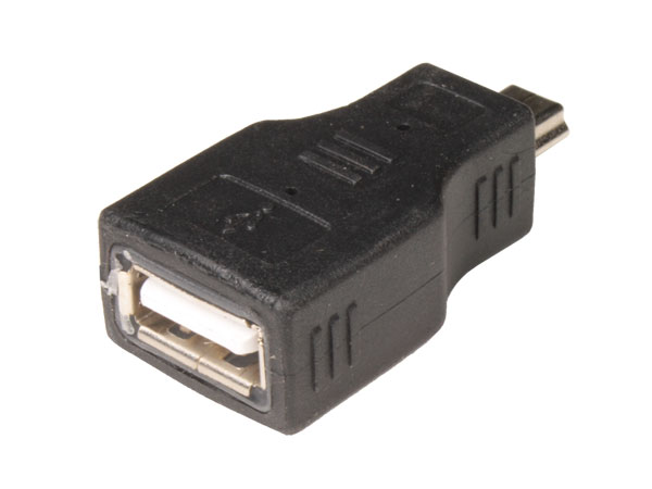 Adaptador USB-A Fêmea - mini-USB-A 5p