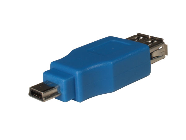 Female USB-A 3.0 to mini-USB-A 10 Pin 3.0 Connector Adapter