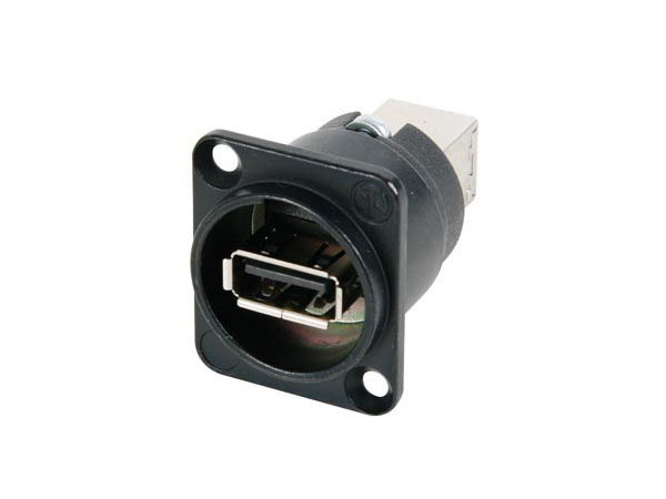 Panel-Mount Female USB-A to Female USB-B Connector - NA HDMI-N