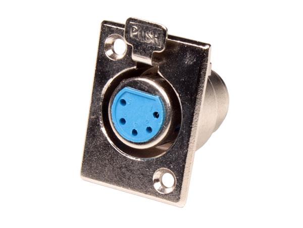 CONECTOR XLR BASE HEMBRA 5 POLOS