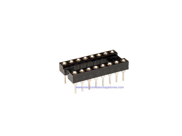Support de Circuit Intégré DIL 16 Pòles Étroit - Pin Sécable - 18.905/16