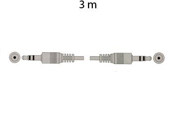 CONEXION JACK 3,5 ST MACHO - JACK 3,5 ST MACHO, 2,5M DORADA
