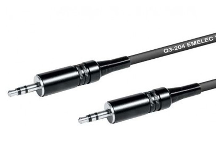 2 3.5 Stereo Jack Male to 3.5 Stereo Jack Male Cable - 3 m - Professional - EQ670503S