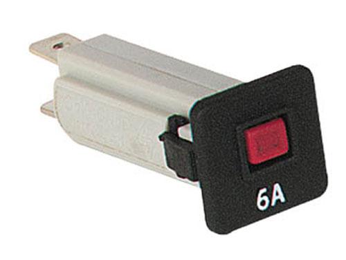 Fusible Automatique - 6 A - 250 Vca - Disjoncteur Thermique - T9-611P-6A