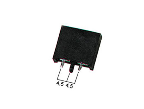 Blade-type printed circuit board mount fuse holder 4.8 mm