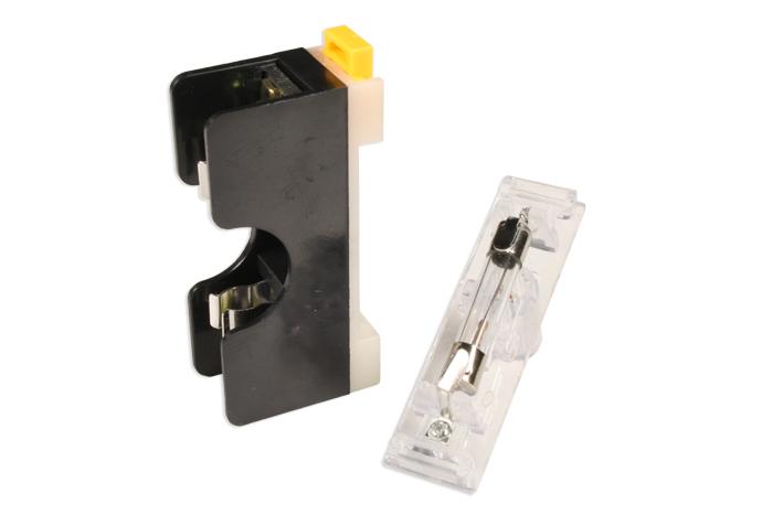 Portafusible Carril DIN - 1 Fusible 6 x 32 mm