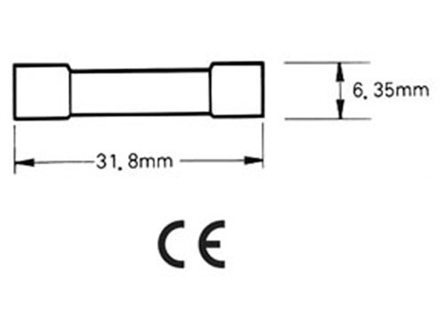 Glass fuse - 6 x 32 mm - fast acting - 6.3 A - 250 V