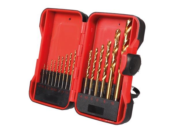 Set of HSS Drill Bits - Coated Titanium - 15 Units - TL78004