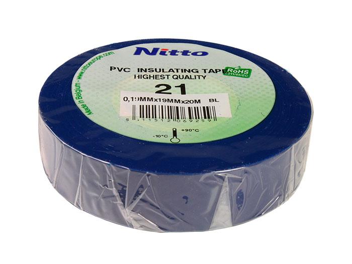 Ruban adhésif isolant 19 mm - 20 m - bleu