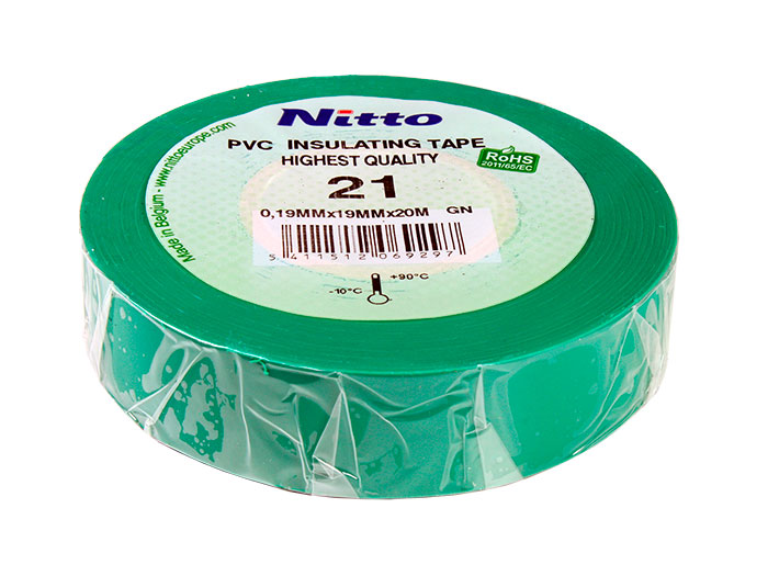NITTO - Adhesive Insulation Tape 19 mm - 20 m - Green