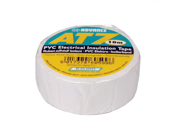 Adhesive insulation tape 19 mm - 10 m - white