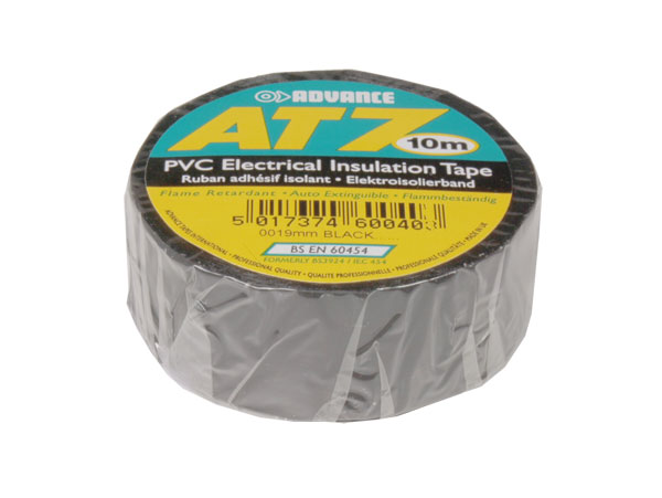 Adhesive insulation tape 19 mm - 10 m - black