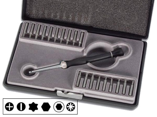 Multi-bit precision screwdriver 19 bits