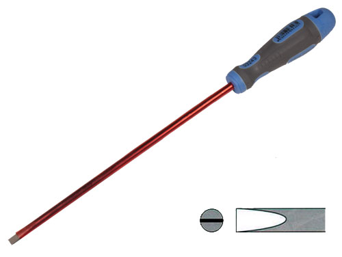 Insulated flat screwdriver 5 mm x 200 mm - CHAVES