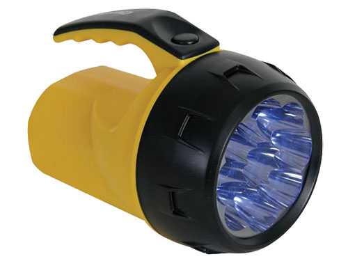 LINTERNA DE BOLSILLO POTENTE - 9 LEDs - 4 x PILA AA